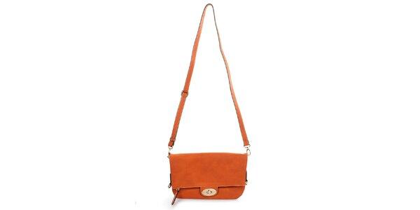 Dámska oranžová kabelka s odopínacím popruhom Caro Paris
