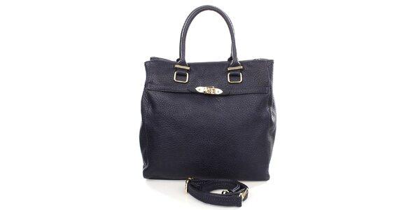 Dámska tmavo modrá kabelka s popruhom Caro Paris