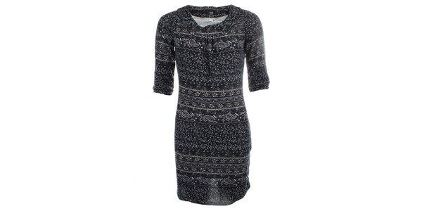 Dámske šaty s jemným vzorom Iska