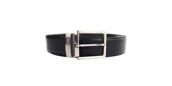 Pánsky hnedo-čierny obojstranný opasok Calvin Klein - hladký