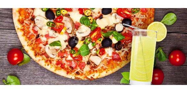 Dvojitý zásah! 2x talianska pizza a citronáda