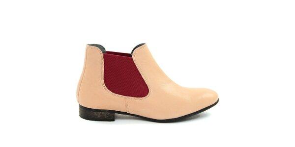 Dámske púdrové členkové topánky Giorgio Picino