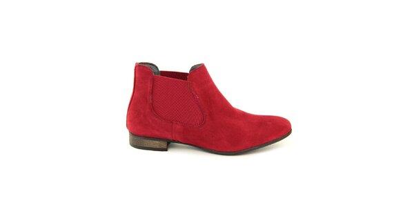 Dámske červené chelsea topánky Giorgio Picino