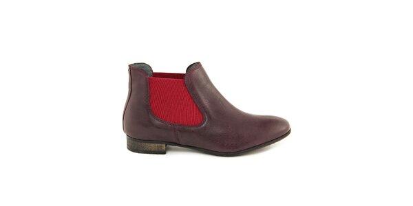 Dámske vínové chelsea topánky Giorgio Picino