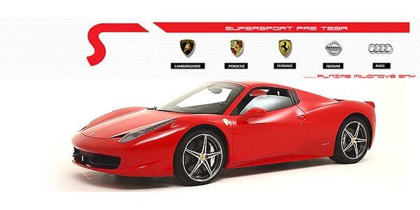 Vzrušujúca jazda na luxusnom športovom aute!