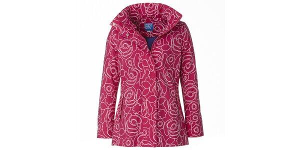 Dámska ružovo-biela bunda do dažďa Happy Rainy Days