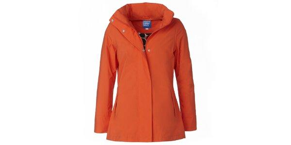 Dámska oranžová bunda do dažďa Happy Rainy Days