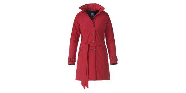Dámsky červený zimný trenčkot Happy Rainy Days