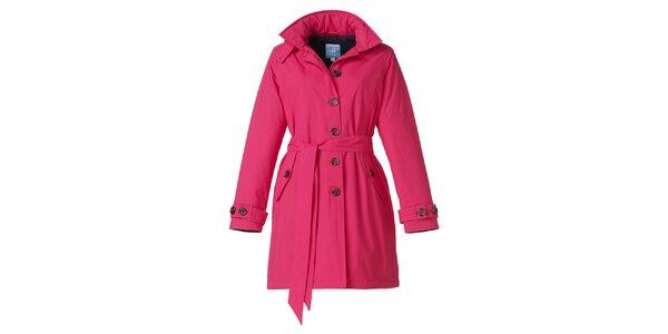 Dámsky ružový zimný trenčkot Happy Rainy Days