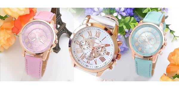 Dámske hodinky Geneva vo farbe podľa výberu