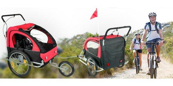 Prívesný vozík na bicykel za prepravu detí