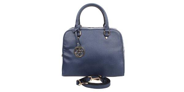 Dámska tmavo modrá kabelka s okrúhlym príveskom London fashion