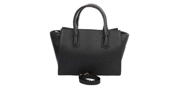Dámska čierna kabelka s ozdobnými pútkami London Fashion