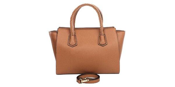 Dámska hnedá kabelka s ozdobnými pútkami London Fashion