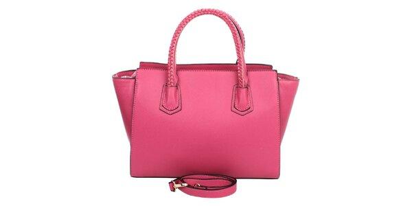 Dámska ružová kabelka s ozdobnými pútkami London Fashion