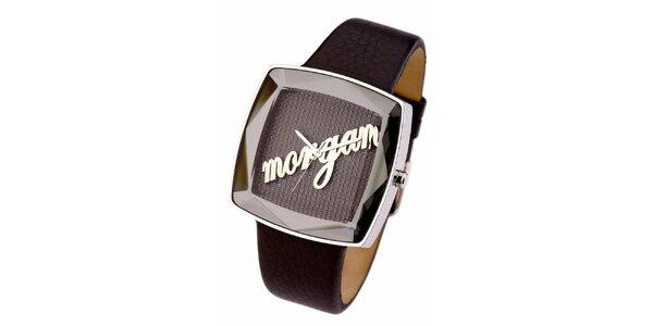 Dámske hnedé analogové hodinky Morgan De Toi