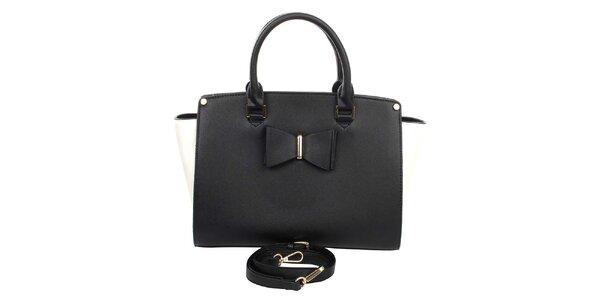 Dámska čierno-biela kabelka London Fashion