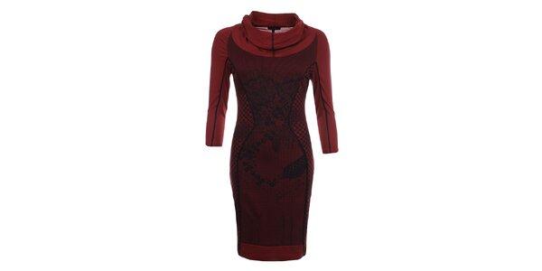 Dámske červené šaty s 3/4 rukávmi Angels Never Die