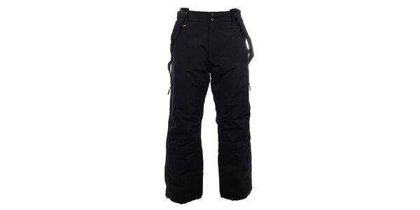 Pánske čierne lyžiarske nohavice s trakmi Trimm