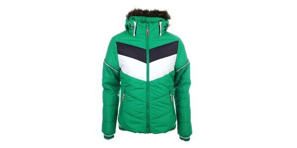 Dámska zelená bunda s kapucňou Trimm