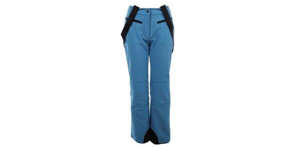 Dámske svetlo modré zateplené nohavice s trakmi Trimm