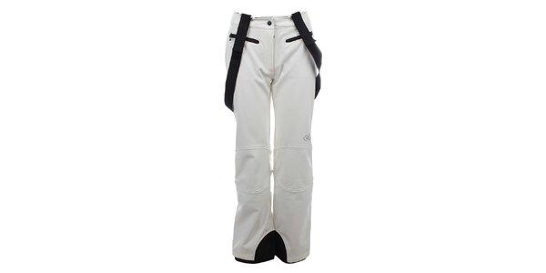 Dámske biele zateplené nohavice s trakmi Trimm