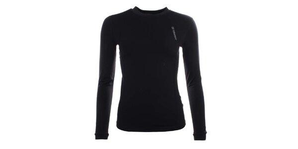 Dámske čierne funkčné tričko s dlhým rukávom Trimm
