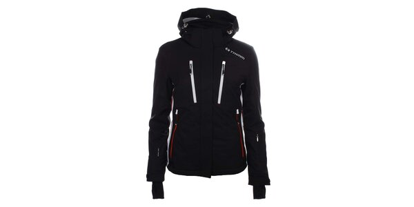 Dámska čierna lyžiarska bunda s kapucňou Trimm