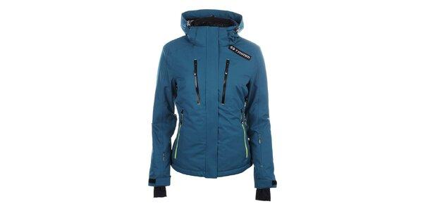 Dámska modrá lyžiarska bunda s kapucňou Trimm