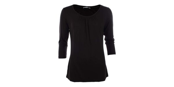 Dámske čierne tričko s 3/4 rukávom Pietro Filipi