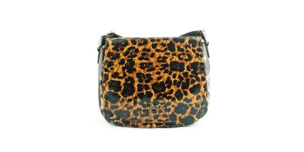 Dámska hnedá leopardia kabelka Morgan de Toi s klopou