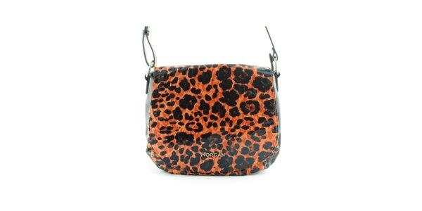 Dámska oranžová leopardia kabelka Morgan de Toi s klopou