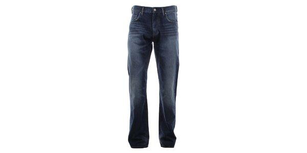 Pánske modré džínsy so šisovaním na nohaviciach Big Star