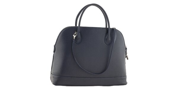 Dámska modrá kožená kabelka Ore 11