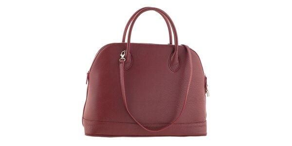 Dámska červená kožená kabelka Ore 13