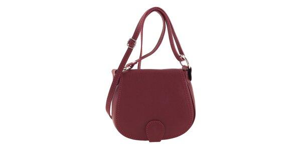 Dámska červená menšia kabelka cez rameno Ore 12