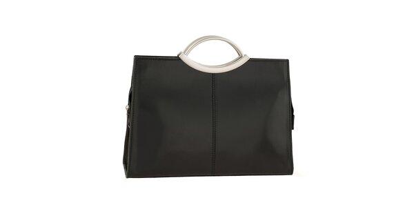 Dámska čierna hladká kabelka Ore 10