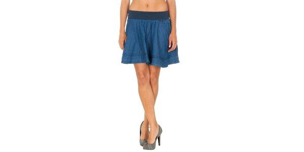Dámska modrá džínsová sukňa Tommy Hilfiger