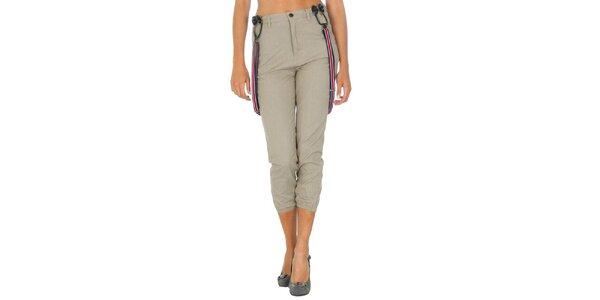 Dámske béžové nohavice s trakmi Tommy Hilfiger