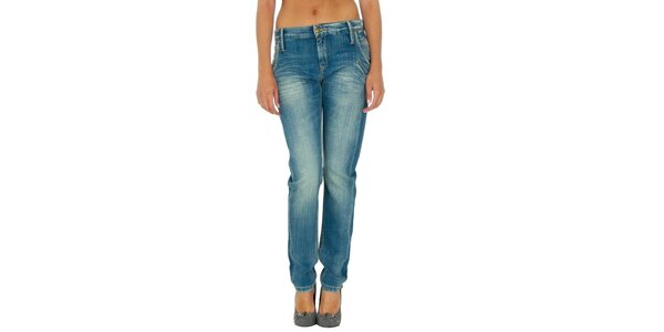 Dámske modré džínsy so šisovaním Tommy Hilfiger