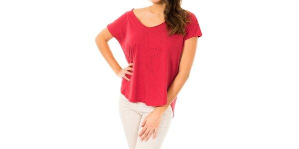 Dámske červené tričko s hviezdami Tommy Hilfiger