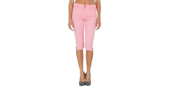 Dámske svetlo ružové capri nohavice Tommy Hilfiger