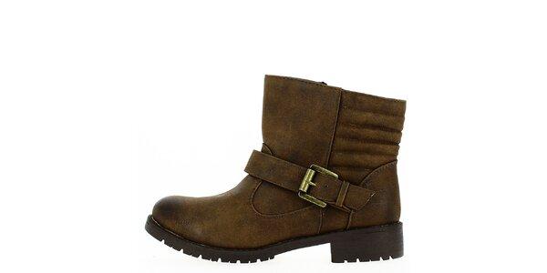 Dámske hnedé topánky s prackou Shoes and the City