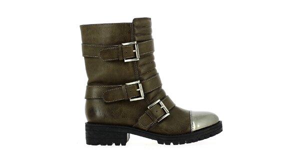 Dámske členkové topánky s prackami Shoes and the City