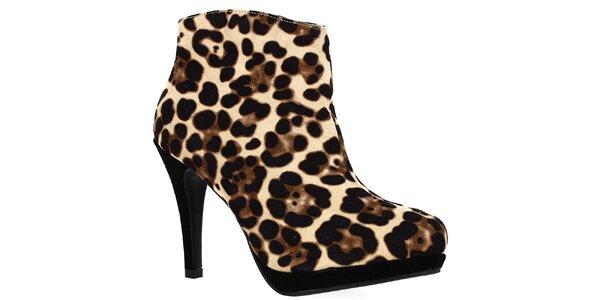 Dámske topánky na opätku s leopardním vzorom Shoes and the City