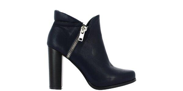 Dámske tmavo modré topánky so zipsom Vanessa Wu