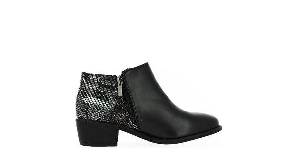 Dámske členkové topánky so vzorovanou pätou Bellucci