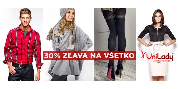 30% zľava na módne kúsky v e-shope UniLady