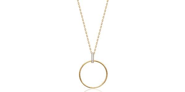 Dámsky pozlátený náhrdelník s okrúhlym príveskom Fifi Ange
