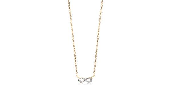 Dámsky náhrdelník s ležatou osmičkou Fifi Ange